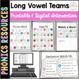 Vowel Teams ai ea oa Printable Intervention