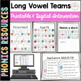 Vowel Teams ai ea oa Printable Intervention