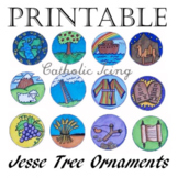 Printable Jesse Tree Ornaments in Black and White and Color