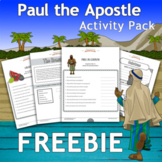 FREEBIE Paul the Apostle Activity Pack