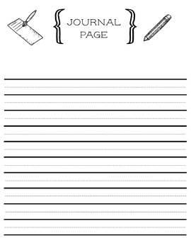 Printable Journal Page with Helper Lines for Young Writers