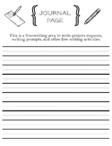 Prayer Request Printable Journal Page with Helper Lines fo