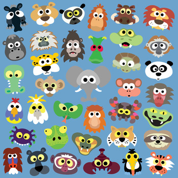 photograph about Printable Jungle Animals named Printable Jungle Animal Masks