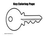 Printable Key Coloring Page Worksheet
