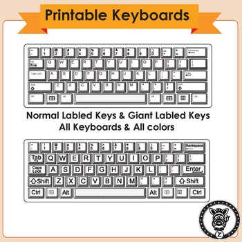 graphic relating to Printable Computer Keyboard named Printable Keyboard - One Webpage Sized