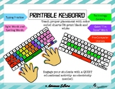 Printable Keyboard for Typing Practice