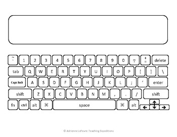 picture regarding Printable Computer Keyboard named Printable Keyboard for Typing Prepare