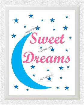 Printable Kids Wall Art Sweet Dreams