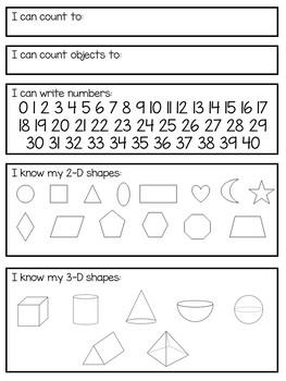 Printable Kindergarten Assessment