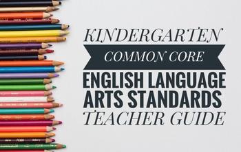 picture regarding Kindergarten Common Core Standards Printable named Printable Kindergarten Preferred Main English Language Arts Instructor Lead/List