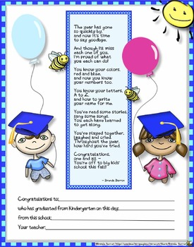 Printable Kindergarten Graduation Certificates Bundle End of the School Year