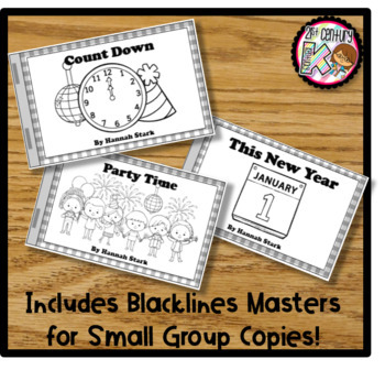 Printable Kindergarten Leveled Books - New Year Levels A, B, C