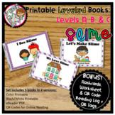 Printable Kindergarten Leveled Books - SLIME! Levels A, B, C
