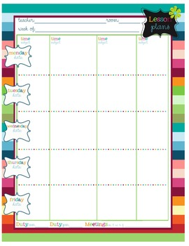 Printable Kit for the Classroom teacher: Get organized and stay organized