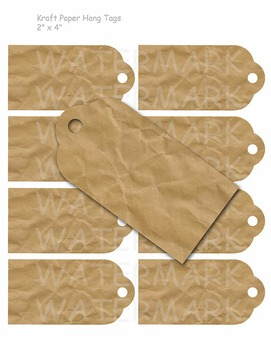 photograph about Printable Kraft Tags known as Printable Kraft Paper Present Tags
