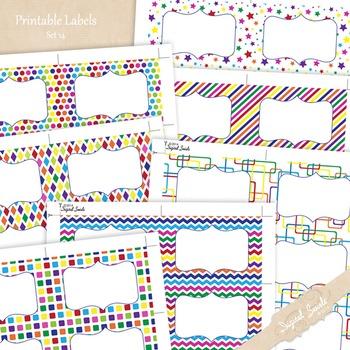 Printable Labels Set 14