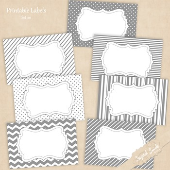 Printable Labels Set 20