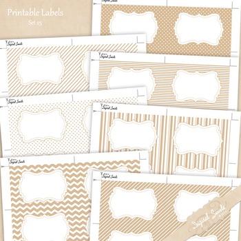 Printable Labels Set 25