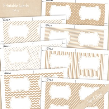 Printable Labels Set 25
