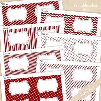 Printable Labels Set 28