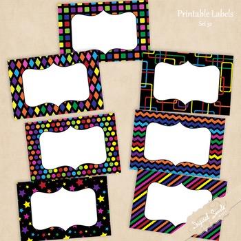 Printable Labels Set 32