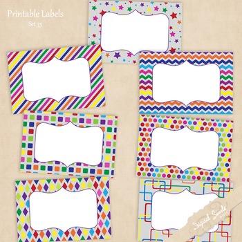 Printable Labels Set 33