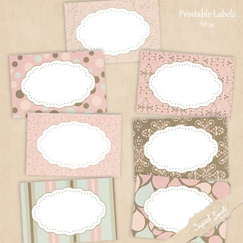 Printable Labels Set 34