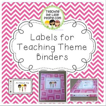 Printable Labels for Making Themed Teacher Binders