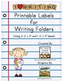 Printable Labels for Writing Folders {Free}