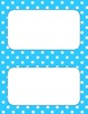 Printable Labels in Aqua Polka Dot Theme