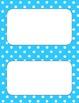 Printable Labels in Aqua Polka Dot Theme