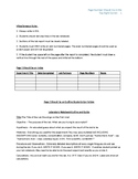 Printable Laboratory (Lab) Notebook Outline and Guide Handout