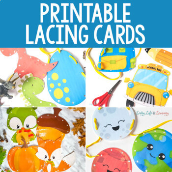 Printable Lacing Cards Bundle