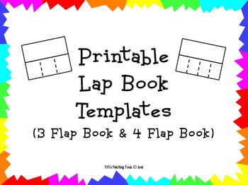 Printable Lap Book Templates 3 Flap Book & 4 Flap Book by TiTi's