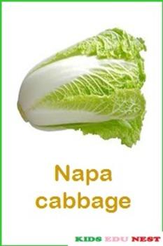 Printable Leafy and Salad Vegetables Flash Cards