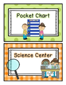 Printable Learning Center Rotation Cards