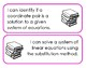 Printable Learning Targets--Solving Systems (Equations and Inequalities)