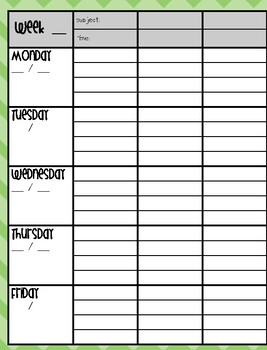 Printable Lesson Plan Book