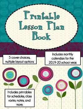 Printable Lesson Plan Book (Modern Flowers)
