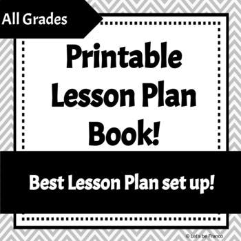 Printable Lesson Plan Pages!