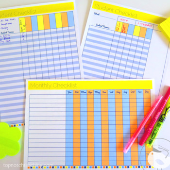PRINTABLE Lesson Plan Templates | Weekly | Monthly | Quarterly | Yearly