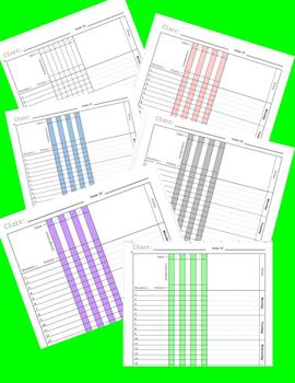 Printable Lesson Plan and Gradebook Combination Page