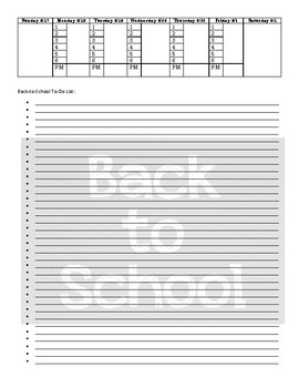 Printable Lesson Planner 2017-2018
