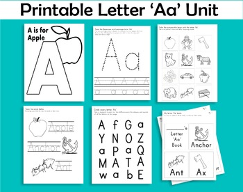 Printable Letter 'Aa' Unit