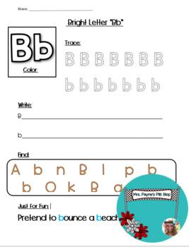 Bright Letter B