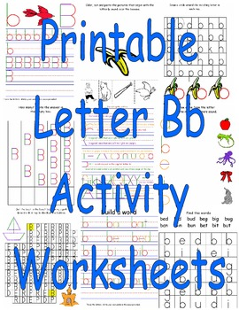 Printable Letter Bb Activity Worksheets