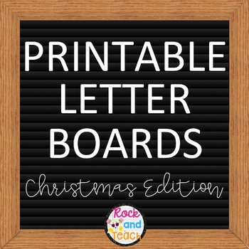 Printable Letter Boards