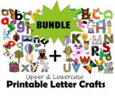 Printable Letter Crafts BUNDLE