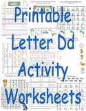 Printable Letter Dd Activity Worksheets