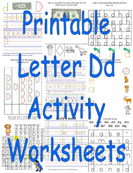 Printable Letter Dd Activity Worksheets